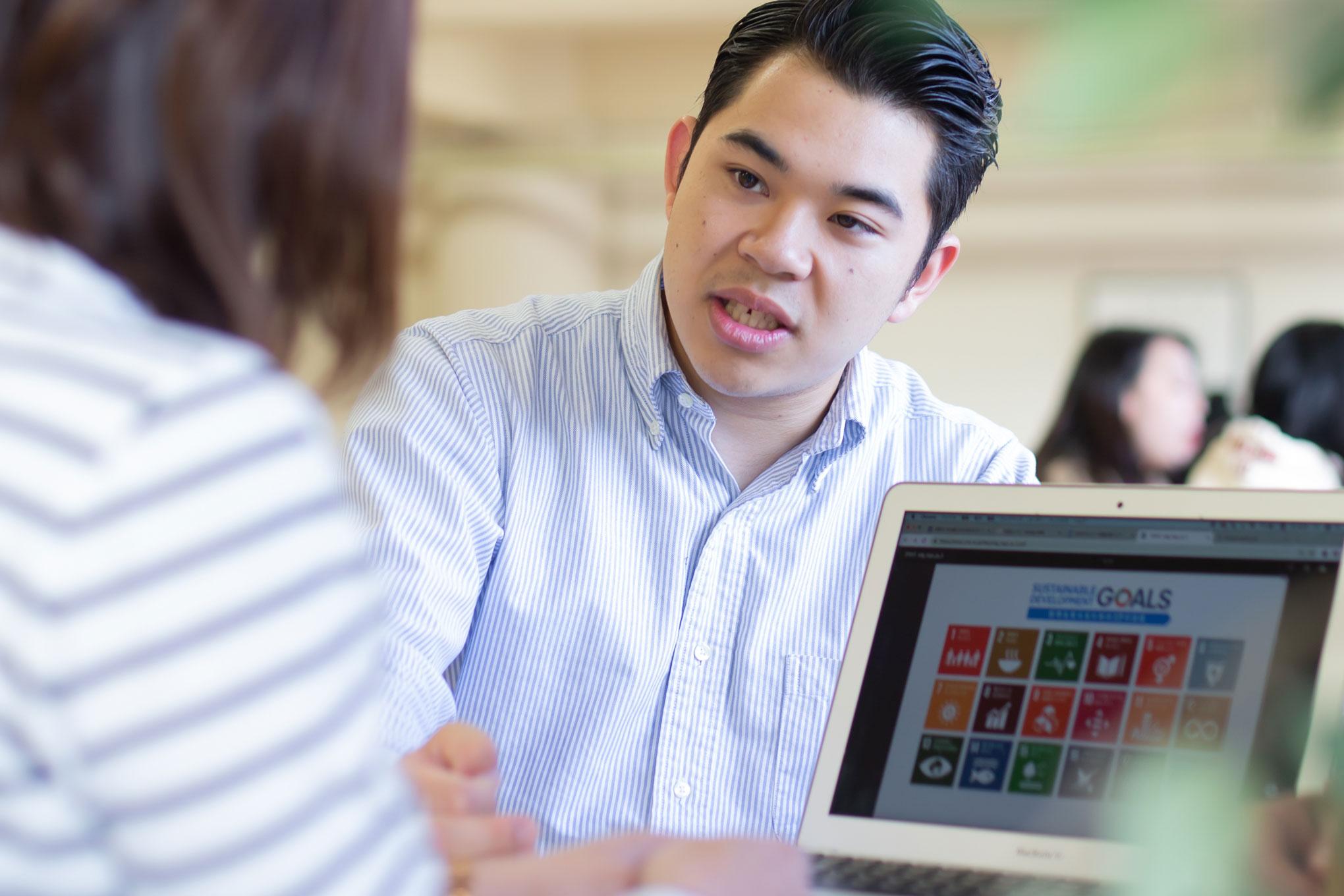 SDGs 活動を通じ、世の中を少しでも良くしたい